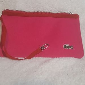 Lacoste Hot Pink/Red Pouchette